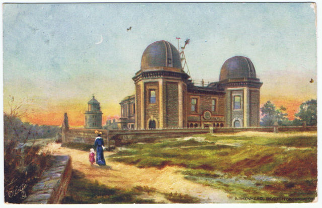 Bidston Observatory and Lighthouse, postmarked 1907