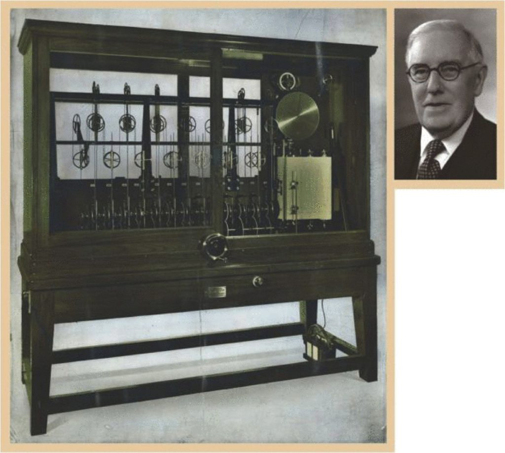 The Bidston Kelvin Machine and (inset) Arthur Doodson (from Parker, 2011)