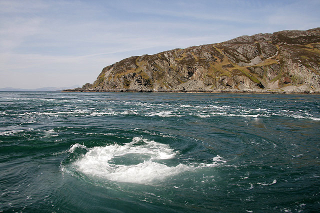 Corryvreckan Whirlpool, photo by Walter Baxter